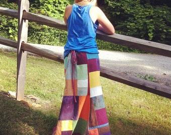Patchwork Hemp skirt Organic Cotton Made to Order Skirt