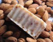 Organic Almond Soap made w/Handmade Almond Milk from Non-Gmo Almonds - Not from a base - 1oz Hand cut TRIAL SIZE Bar