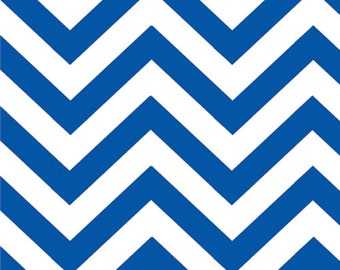 Royal (Light Navy) Chevron (Small) from the Half Moon Modern Collection, by Moda