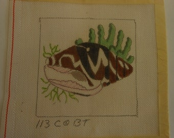 needlepoint canvas, supply, seashell, 8 inches square, .