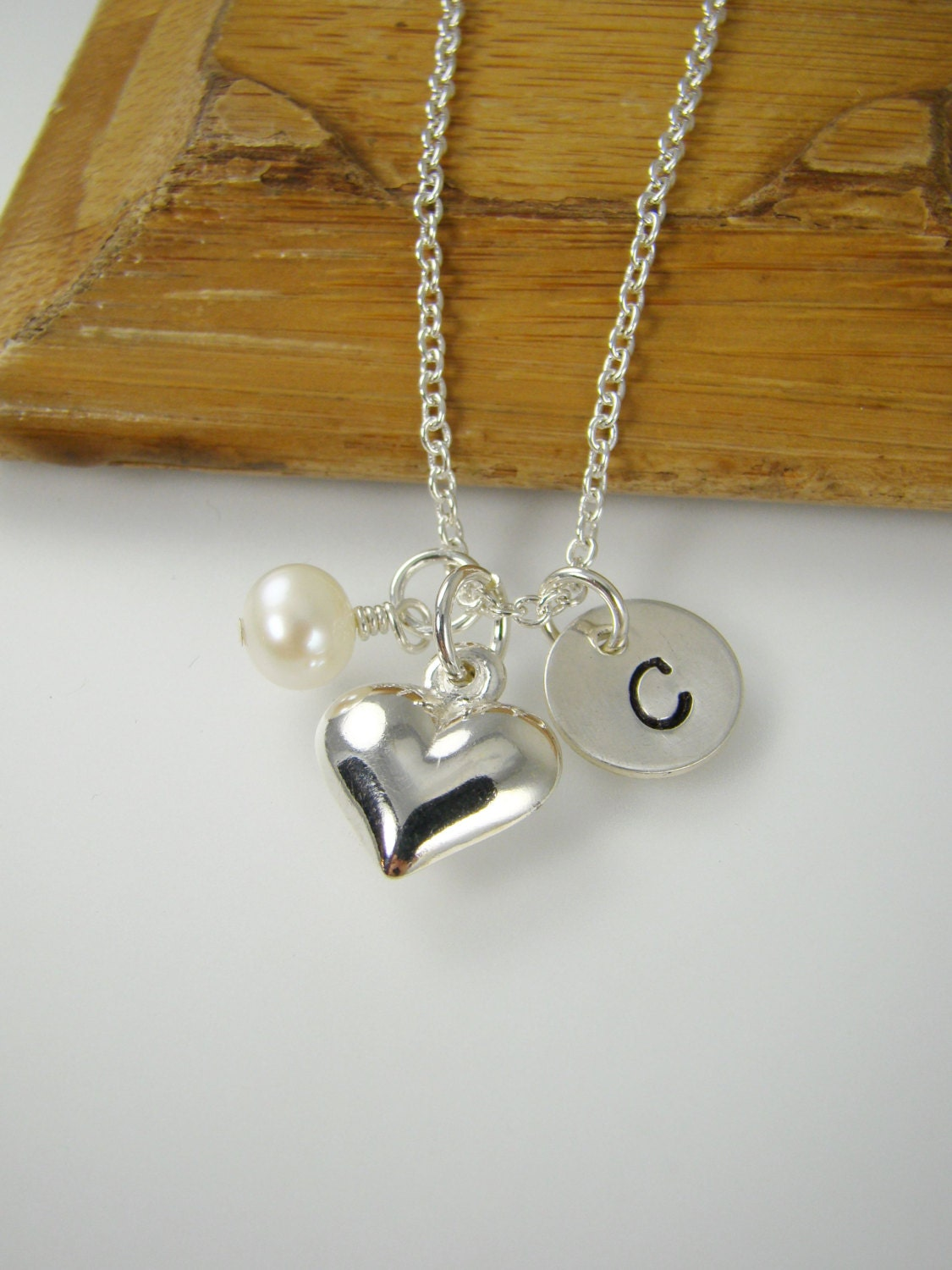 girl heart necklace personalized girl birthday gift idea. Black Bedroom Furniture Sets. Home Design Ideas