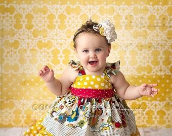 The Emma flutter dress for girls toddlers babies