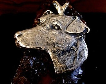 LARGE JACK RUSSELL Dog Pendant  Sterling Silver Free Domestic Shipping
