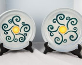 Pottery Plate Set of two, Winds of Change Design