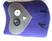 Grape and Olive Green Love Owl