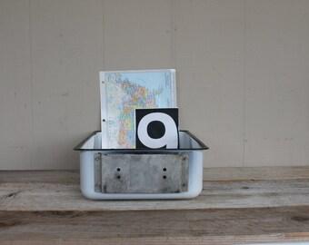 Vintage Enamel Porcelain Refrigerator Box