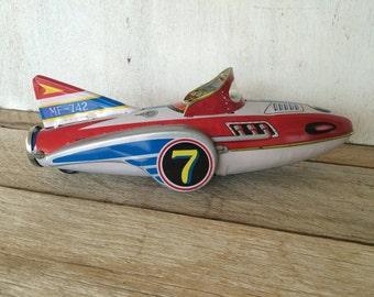 Vintage Aluminum Retro Child's Toy Jet