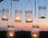 DIY Wedding Mason Jars Lanterns Hangers 6 DIY Outdoor Party Hanging Candle Kits, Luminaries by TreasureAgain, Handmade Hangers Only, No Jars