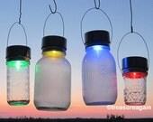 2 Solar Color Mason Jar LIDS Color Changing Mason Jar Solar Lights Outdoor Garden Rotating Rainbow Hanging Mason Jar Solar LIDS No Jars