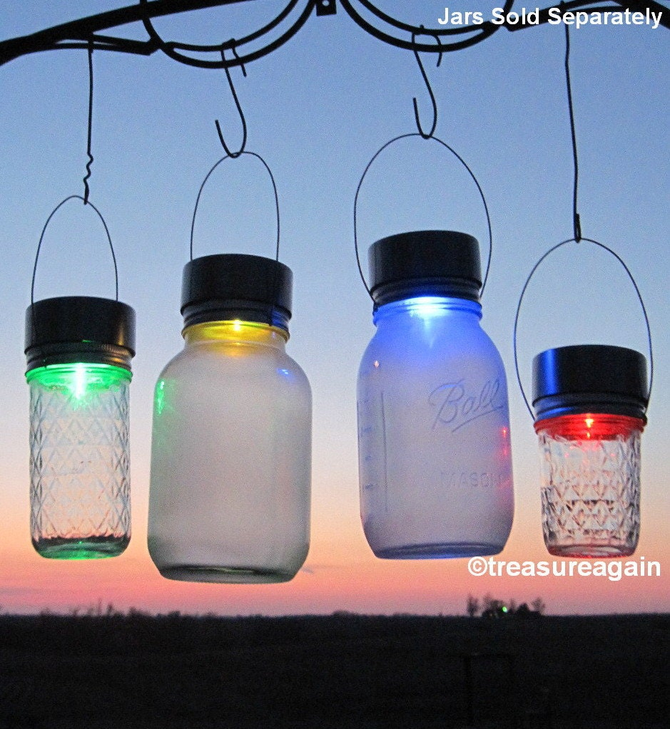 Solar Jars 2 Solar Color Mason Jar Lids Color Changing Mason Jar Solar