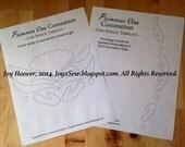 Elsa Coronation Cape PDF Stencil Template