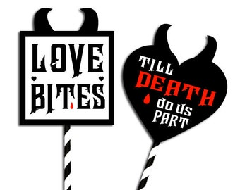 D.I.Y. Printable Photo booth party props: Love Bites