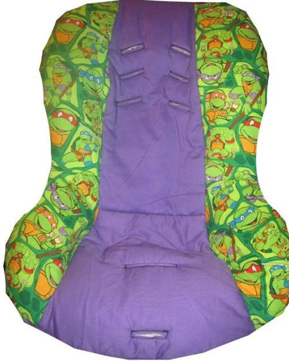 teenage mutant ninja turtles theme car seat cover fits britax universal fit to all 5 point. Black Bedroom Furniture Sets. Home Design Ideas