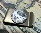 2004 Texas Money Clip with State Quarter jewelry By Custom Coin Rings