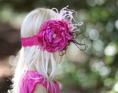 Flirty Fuchsia Pink Couture Flower Headband