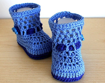 PDF file-CROCHET Pattern - Baby Boots Fashion Spring  ( 0-6 /6- 12 months)