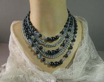 Vintage Blue Hues Necklace
