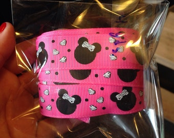 """7/8"""" Minnie Mouse Inspired Ribbon-7 yards"""