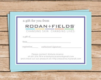 Rodan and Fields Gift Certificates