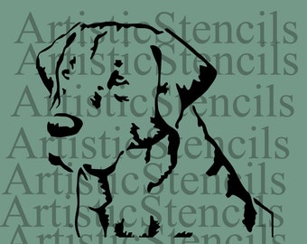 Stencil Lab Dog Head 10 Inch