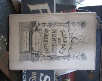 Antique Harper's Monthly Magazine, June 1872 Victorian Era