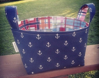 Anchor Basket-Anchor Fabric Storage Basket- Anchor Baby Gift- Fabric Basket