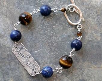 Find Clarity Bracelet, Natural Stone Bracelet, Message Bracelet, Pure Heart Bracelet, Tiger Eye Bracelet, Lapis Bracelet, Yoga Bracelet