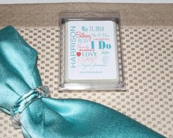 Wedding Favor- Shower Favor- Customized Label-  Scented Soy Breakaway Melts