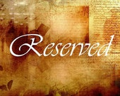 RESERVED for Terri