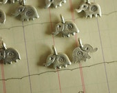 2Pcs Thai Manual 925 Sterling Silver  Fireworks The Elephant   Pendant