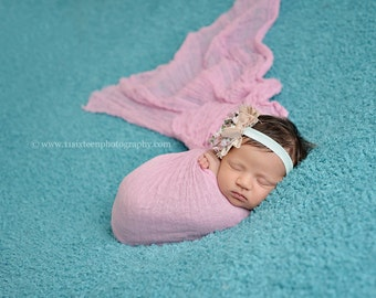 Light Pink Cheesecloth Baby Wrap Cheese Cloth Newborn Photography