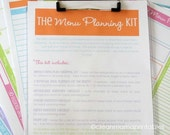 MENU - The Menu Planning Kit - BRIGHTS - 7 documents - Instant Download