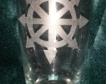 Warhammer Fantasy Chaos Star Pint Glass