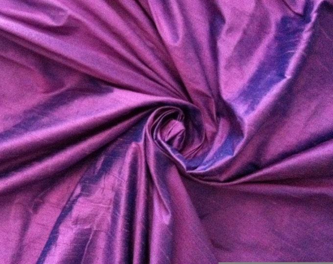 Lavender Purple Turquoise Blue iridescent 100% Dupioni Silk Fabric Wholesale Roll/ Bolt