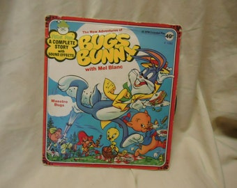 Vintage The New Adventures of Bugs Bunny Maestro Bugs With Mel Blanc Childrens Record by Peter Pan 45 Rpm, collectable. extended play