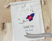 ASTRONAUT- ROCKET Ship - Personalized Favor Bags - Set of 10 - Birthday