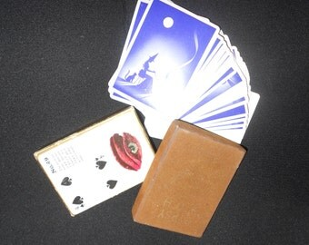 """Antique Tarot """"Gypsy Witch"""" Fortune Telling Cards 1920s-30s Unique Boxed Deck Great For Use Or Craft - Not Reproductions"""