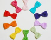 Small Girls Hair Bow Set Childrens Kids Boutique Hair Accessories Hair Clip Hairbows (Set of 10) Choose your Colors