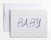 Baby Congratulations Card - Yellow Dots
