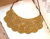 Antique Gold  Venise Lace  Sweet Necklace Perfect for Bride, Wedding, Bridesmaids And Formal