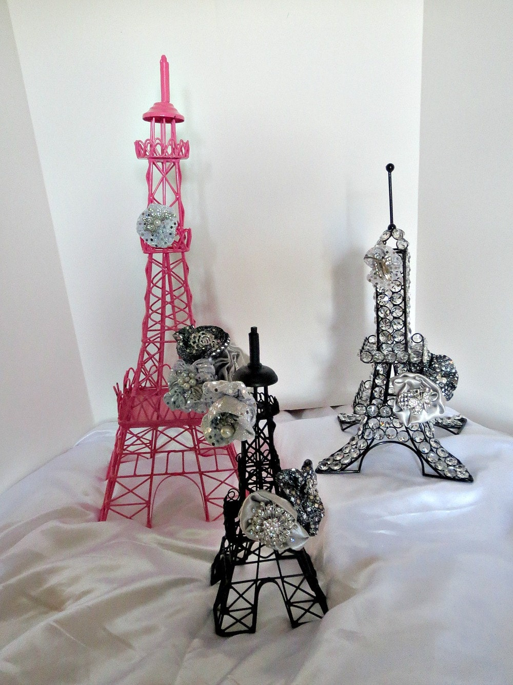 parisian decoration eiffel towers parisian centerpiece for. Black Bedroom Furniture Sets. Home Design Ideas