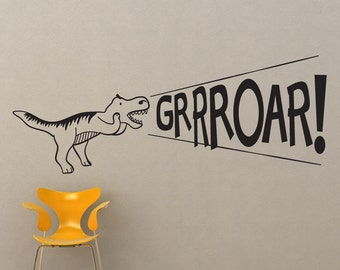 Vinyl Wall Art Decal Sticker Dinosaur Roar OSDC690s