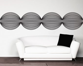 Vinyl Wall Art Decal Sticker Optical Illusion Circle Chain OSDC768s