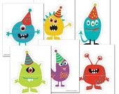 Monster Printable Cut outs -   DIY Party Decor