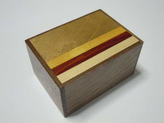 Japanese Puzzle box (Himitsu bako)- 3.5inch(90mm) Open by 12steps Pure Walnut Wood