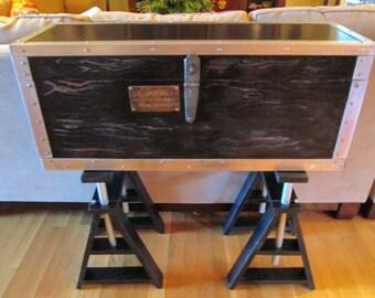Vintage Carpenters Chest Table