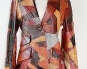 awesome vintage 70s patchwork leather blazer