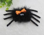 Halloween spider bow hair clip