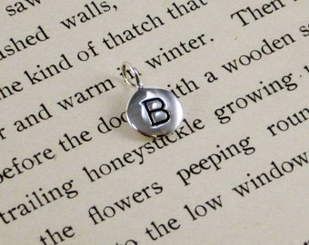 "Sterling Silver Letter  ""B"" Charm"