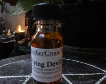 Flying Devil Oil Wicca Pagan Spirituality Religion Ceremonies Hoodoo Metaphysical MaidenMotherCrone